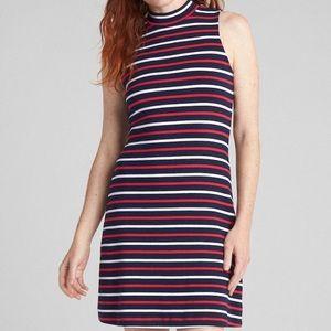 Sleeveless Mockneck Midi Dress